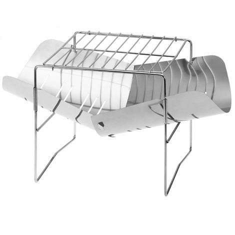 Barbecue pliant en acier inoxydable