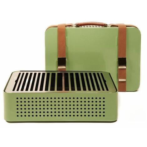 Barbecue portable RS BARCELONA Mon Oncle - Vert - Extérieur - Relevable - Vert