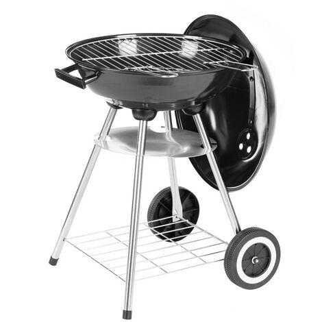 Barbecue rond à charbon de bois Noir 45.00 cm x 41.00 cm x 74.00 cm