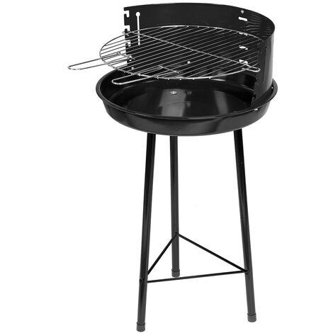 Barbecue rond en acier laqué noir Noir 45.00 cm x 74.00 cm - Noir