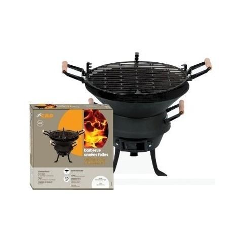 """Barbecue rond fonte acier à l'ancienne pm """"années folles"""" bg 36 x 37"""