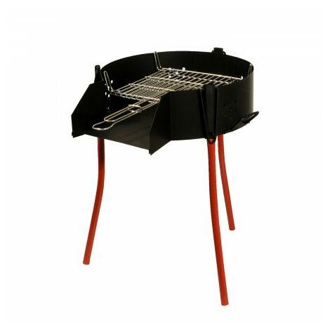 Barbecue rustique polyvalent Ø 50 cm. valida pour carbon, bois et paelleros.
