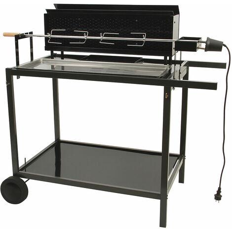 Barbecue spécial rôtisserie Noir 121,5 x 68 x 115,5 cm - Noir