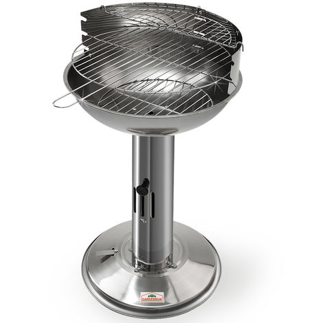 Barbecue Stainless Steel Pedestal BBQ
