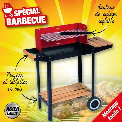 Barbecue sur roues dim 83x28x83cm