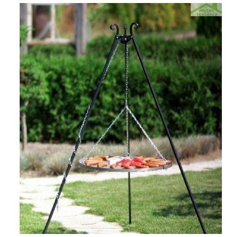 Barbecue sur Trépied, Grille en acier inoxydable