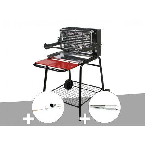 "main image of ""Barbecue vertical Raymond Somagic + Kit tournebroche + Pince inox"""