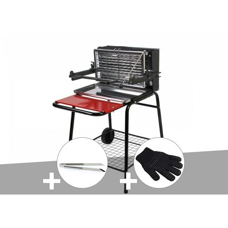 Barbecue vertical Raymond Somagic + Pince inox + Gant de protection