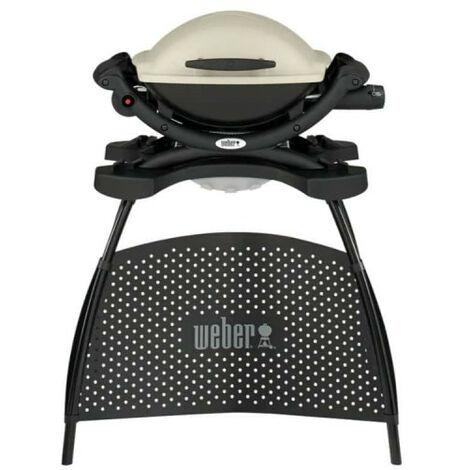 Barbecue Weber - à gaz - Q1000 - avec pied - Titanium