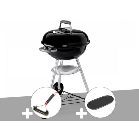 Barbecue Weber Compact Kettle 47 cm + Brosse + Plancha