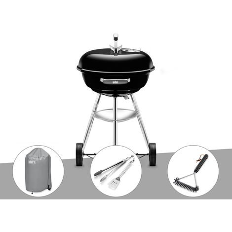 Barbecue Weber Compact Kettle 47 cm + Housse + Kit Ustensile + Brosse