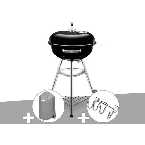 Barbecue Weber Compact Kettle 47 cm + Housse + Support Accessoires