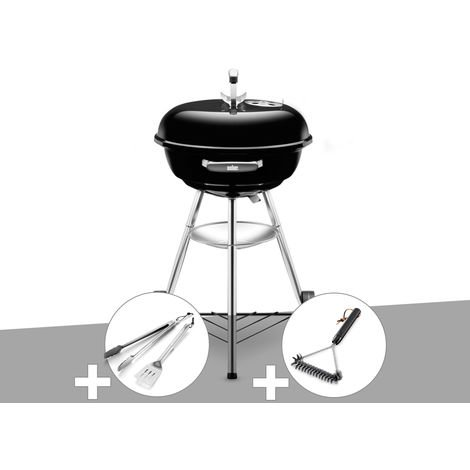 Barbecue Weber Compact Kettle 47 cm + Kit Ustensile + Brosse