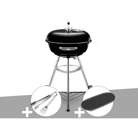 Barbecue Weber Compact Kettle 47 cm + Kit Ustensile + Plancha