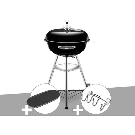 Barbecue Weber Compact Kettle 47 cm + Plancha + Support Accessoires