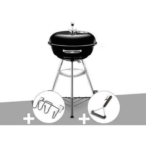 Barbecue Weber Compact Kettle 47 cm + Support Accessoires + Brosse