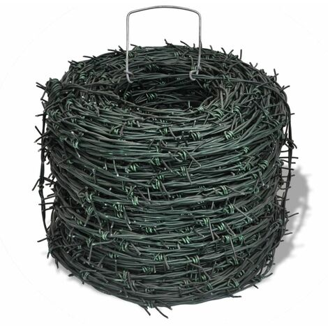 Barbed Wire Entanglement Wire Green Wire Roll 100 m QAH03812