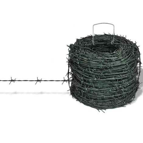 Barbed Wire Entanglement Wire Green Wire Roll 100 m VD03812