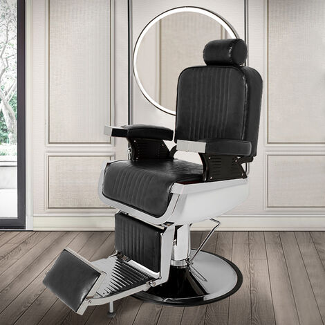 Barber Salon Chairs Beauty Reclining Leather Seats