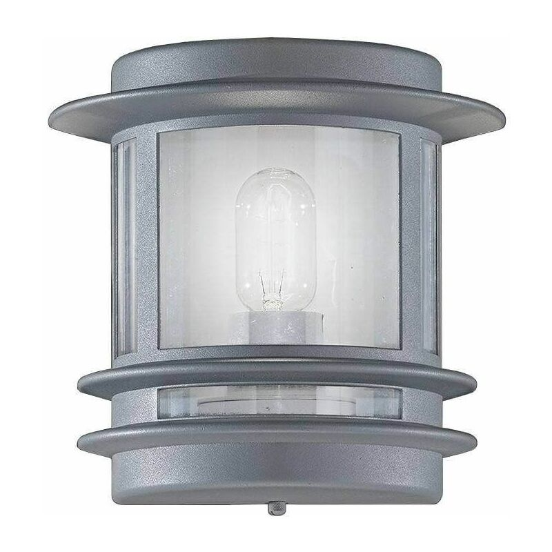 Image of Barbican 1 Bulb Silver Garden Wall Light