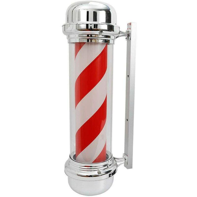 Barbierstab Lampe à LED classique Blanc Rouge