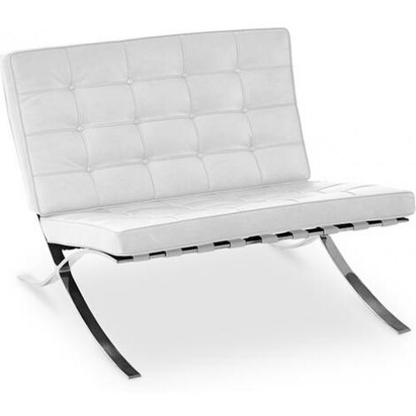 Barcel Armchair - Faux Leather White