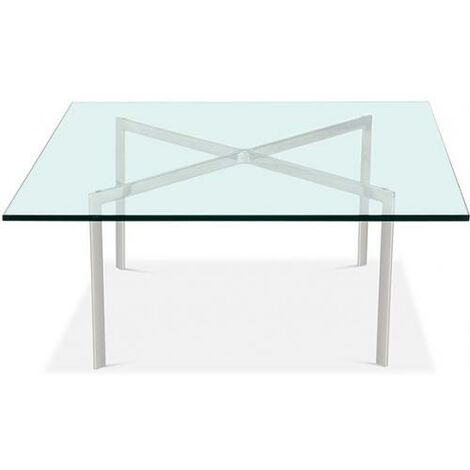 Barcelona coffee table square glass Ludwig Mies Van der Rohe Steel
