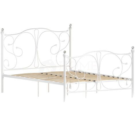 Barcelona Double Metal Bed, White