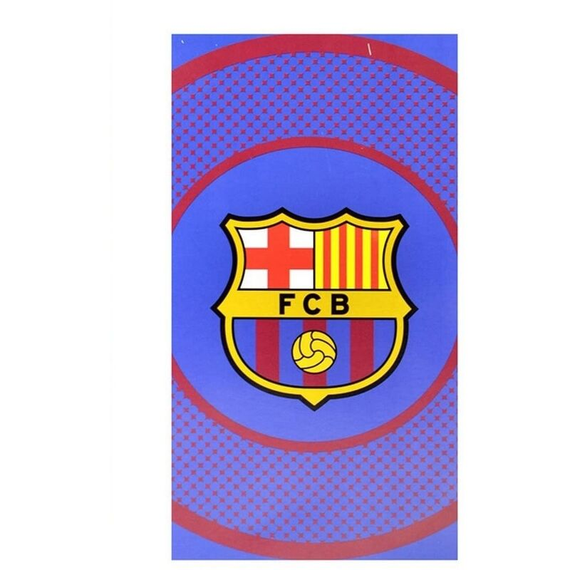 Image of Bullseye Beach Towel (140cm x 70cm) (Red/Yellow/Blue) - Barcelona Fc