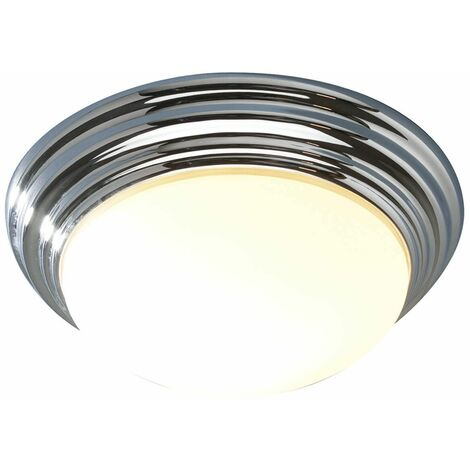 Barclay ceiling light polished chrome and opal glass 1 light