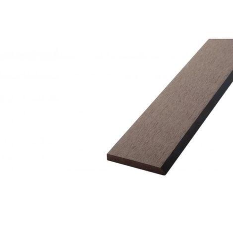 Bardage ajouré bois composite - Coloris - Chocolat, Epaisseur - 1cm, Largeur - 7.5 cm, Longueur - 270 cm, Surface couverte en m² - 0.2