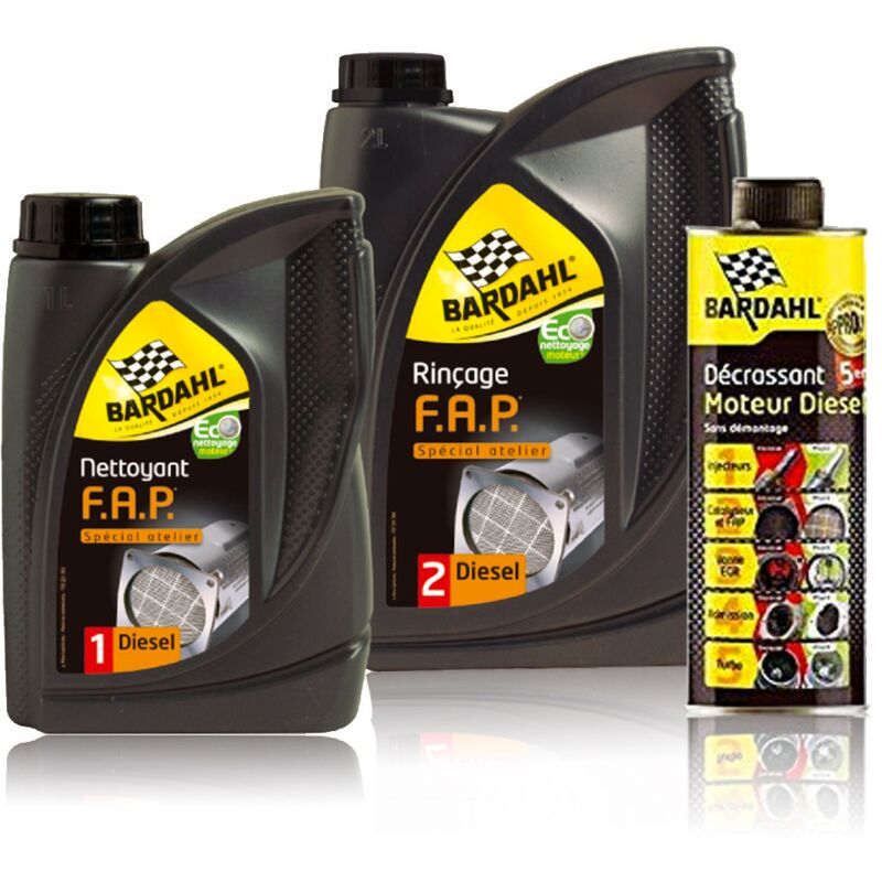 Kit de produits de nettoyage fap Bardahl 3 Produits
