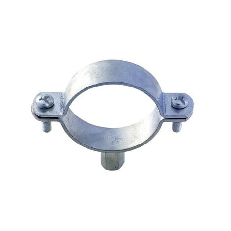 Bare zing collar with double base - M8-M10 - Diameter 12-17 mm - 51408D