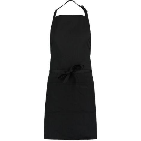 Bargear Unisex Bib Apron With Pocket (Pack of 2) (One Size) (Black)