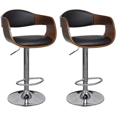 barhocker 2 stk kunstleder mit r ckenlehne. Black Bedroom Furniture Sets. Home Design Ideas