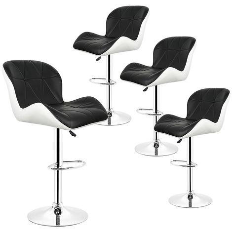 4× Barhocker Tresenhocker Stuhl Küchenhocker , Höhenverstellbar,360° Drehbar