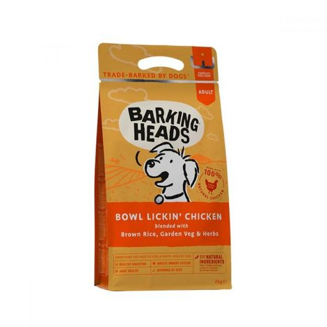 Barking Heads Bowl Lickin Chicken Complete Dry Dog Food (2kg) (May Vary)