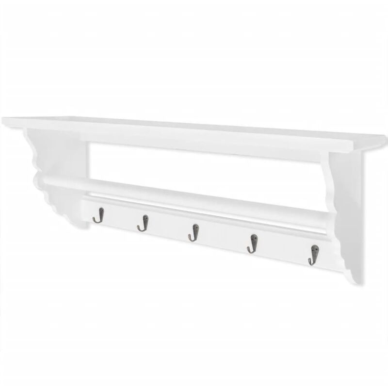 Image of Barksdale Wall Mounted Coat Rack by August Grove - White