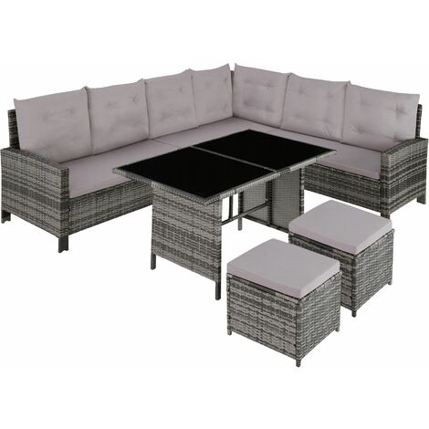 Barletta Rattan Garden Furniture Set, variant 2 - rattan garden furniture set, rattan garden furniture, lounge set