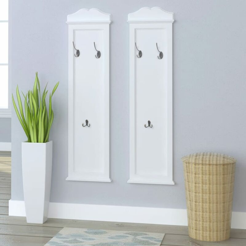Image of Barnard Wall Mounted Coat Rack by August Grove - White
