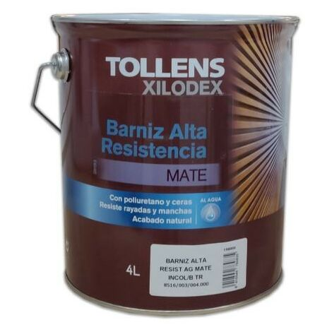 BARNIZ ALTA RESISTENCIA AL AGUA MATE 4 LT