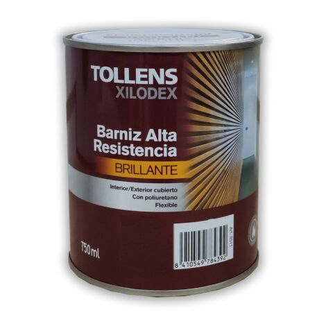 BARNIZ ALTA RESISTENCIA BRILLANTE INTERIOR 750 ML
