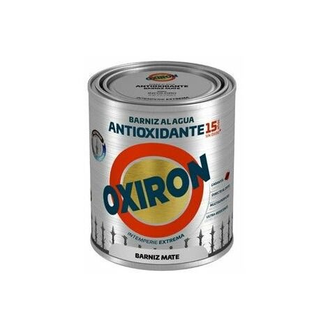 Barniz Antioxidante Mate 750 Ml Inc. Ext. Liso Titan Oxiron