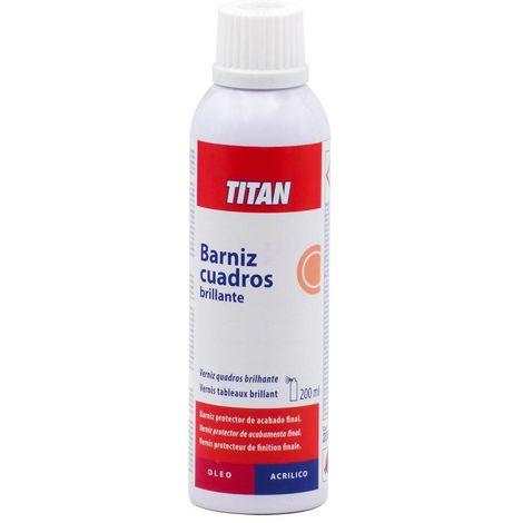 Barniz Cuadros Brillante Spray Titan | 200 mL