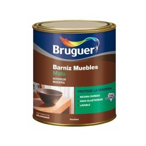 Barniz Mad Mate 250 Ml Incoloro Interior Sintetico Muebles Bruguer