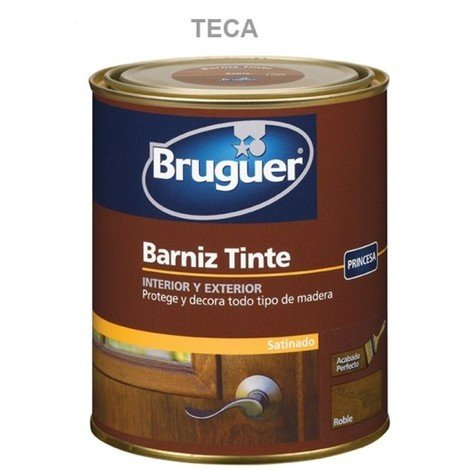 Barniz mad sat. 250 ml teca int/ext sint. bruguer