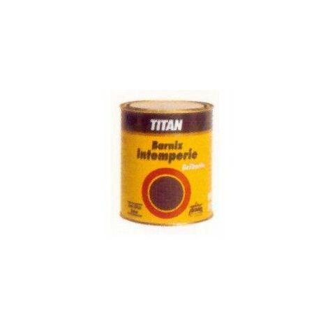 Barniz Madera Brillante 1 Lt Incoloro Exterior Oleo Sintetico Intermperie Titan