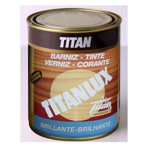 Barniz Madera Brillante 250 Ml Caoba Interior/Exterior Sintetico Titanlux Titan