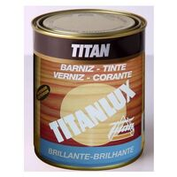 Barniz Madera Brillante 500 Ml Nogal Interior/Exterior Sintetico Titanlux Titan