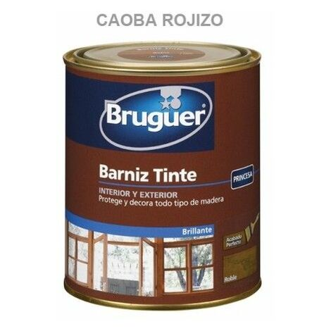 Barniz Madera Brillante 750 Ml Caoba/Rojo Interior/Exterior Sintetico Bruguer